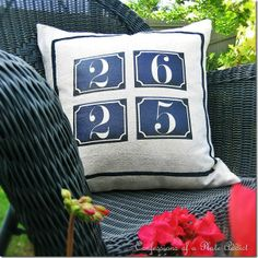 CONFESSIONS OF A PLATE ADDICT: French House Number Address Pillow