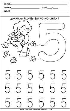 Vzdělávací činnosti pro vypisování čísel od 1 do 5 Preschool Learning Activities, Preschool At Home, Preschool Lessons, Preschool Worksheets, Kids Learning, Kids Study, Alphabet Worksheets, Learning Numbers, Math For Kids