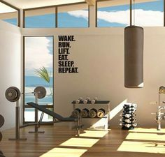 wall text for my home gym & 77 best Inspiring Home Gyms images on Pinterest | Gym Fitness ...