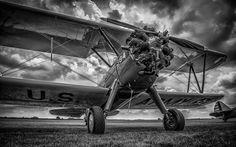Airplane Plane B-W Propeller HDR military wallpaper | 1920x1200 ...