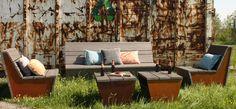 Lounge set Tantum van Just Try Me - #tuin #loungeset #tuinmeubels #hout