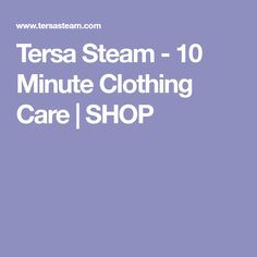 Tersa Steam - 10 Minute Clothing Care | SHOP