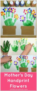 Mother's Day Handprint Flowers by The Childcare Blog
