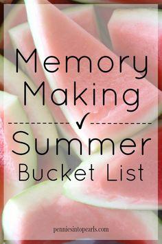 Summer Bucket List 2015 - penniesintopearls.com - Make a memorable summer with this summer bucket list. Fun and frugal summer bucket list.