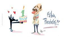 Rico studio / charges . ilustrações . cartuns . quadrinhos: Cartão de aniversário