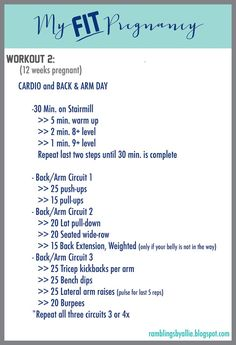 First Trimester Workout. Pregnant Back and Arm Workout Routine Fit pregnancy. Training in the first trimester. Routine for pregnant back and arm training 12 Weeks Pregnant, Pregnant Mom, Fitness Workouts, Cardio Workouts, Fitness Motivation, First Trimester Workout, Prenatal Workout, Routine, Mommy Workout