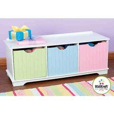Great Das Lowboard von KidKraft dient als Bank und bringt schnell Ordnung ins Kinderzimmer Qualitativ hochwertig