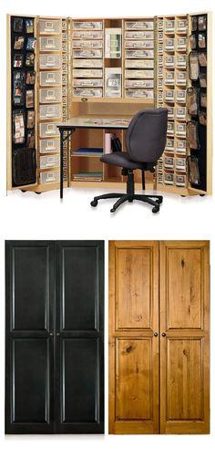 Hideaway Work Space     http://www.amazon.com/Original-Scrapbox-Workbox-Scrapbooking-Storage/dp/B0061I6BYY