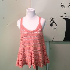 Final Price Inked &Faded Urban Outfitters Boho Top Crocheted boho sweater top.  Great condition Urban Outfitters Tops