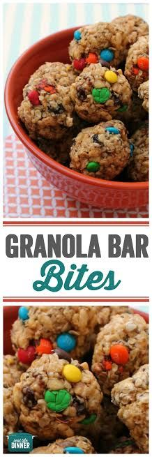 Fun and Super yummy healthy snack for kids. These Granola Bar Bites will not disappoint and kids love them. Yummy Healthy Snacks, Healthy Food List, Easy Healthy Recipes, Yummy Food, Healthy Meals, Clean Eating Snacks, Healthy Eating, Healthy Food To Lose Weight, Granola Bars