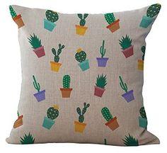 Amazon.com: Crazy Cart Cotton Linen Square Decorative Throw Pillow Cover Plant Oil Painting Home Decorative Pillowcase Cushion Cover 18*18 inch (K33): Home & Kitchen