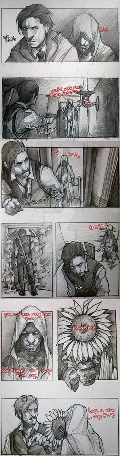 Sebastians reaction is my reaction half the time, if only ruvik really wanted to give me a flower.
