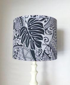 Maori Design Lampshade Polynesian Print Fabric by MesmerizingBlue Textile Design, Fabric Design, Maori Designs, Printing On Fabric, Lamps, Sewing Projects, Textiles, Tattoos, Diy