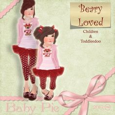 *Baby Pie* Beary Loved Toddleedoo Girls Complete Outfit!
