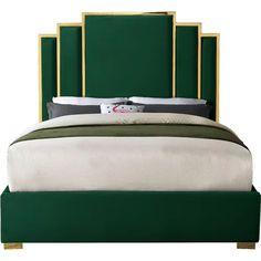 Mercer41 Amaia Velvet Upholstered Platform Bed | Wayfair
