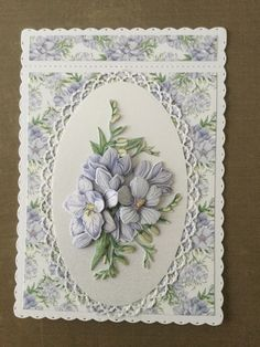 Using the Tattered Lace floral fragrance collection Felt Crafts Patterns, Felt Crafts Diy, Card Crafts, Hand Made Greeting Cards, Making Greeting Cards, Heartfelt Creations Cards, Tattered Lace Cards, Mothers Day Cards, Handmade Birthday Cards