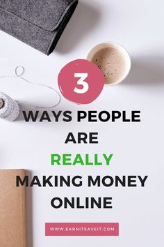 Make money online and stay at home doing it. Here are three real ways people are making money online.
