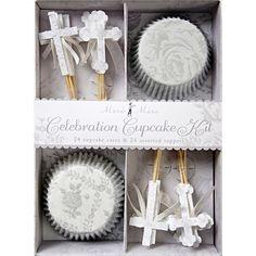 MM Conjunto para Cupcakes Cruz Floral