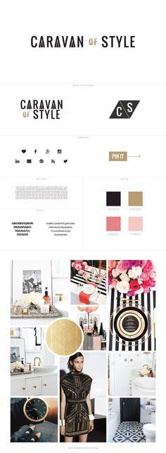 Caravan of Style Custom Blog Design - logo design, wordpress theme, mood board inspiration, blog design idea, graphic design, branding