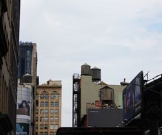 Water towers, SoHo, Manhattan.  This photo is part of a project I'm doing where I'm photographing the neighborhoods around every stop on the New York City subway.  You can find all of the photos organized by stop at www.karinkohlmeier.com/blog