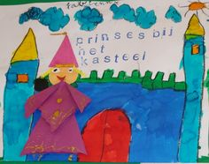 Prinses bij het kasteel