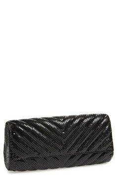 Whiting & Davis Quilted Chevron Clutch in Black | Nordstrom
