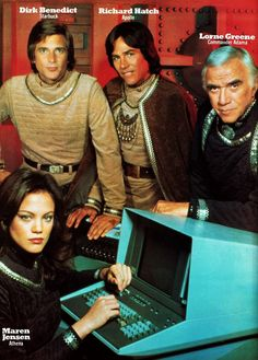 Battlestar Galactica..it's SOOO futuristic! Is that a TRS-80?