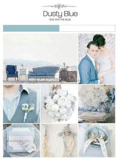 Dusty blue wedding inspiration board, color palette, mood board via Weddings Illustrated July Wedding Colors, Wedding Themes, Wedding Cards, Our Wedding, Dream Wedding, Wedding Decorations, Wedding Ideas, Wedding Rustic, Garden Wedding