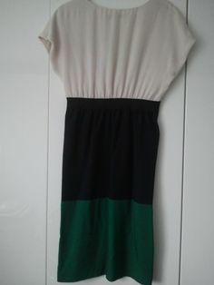 Zara Colourblock Blue Green Kleid (espalda)