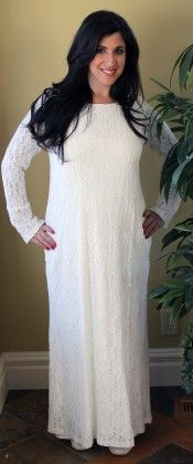 Lace Temple dress from Dressed In White.com $69