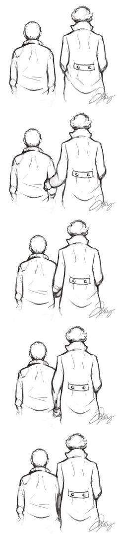 johnlock art in B&W