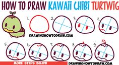 How to Draw Cute Kawaii Chibi Turtwig from Pokemon - Simple Drawing Tutorial