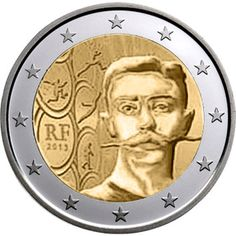moneda conmemorativa 2 euros Francia 2013.
