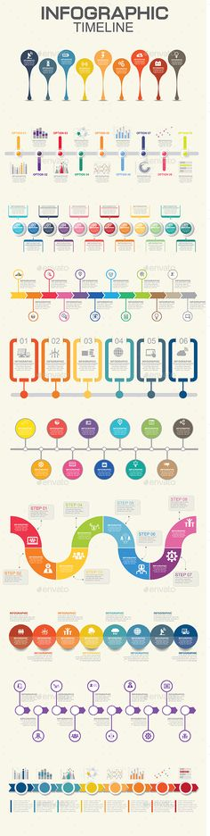 Infographics Timeline Preview - GraphicRiver
