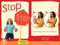 Sign of the Week - Stop - Signing Time