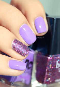 Purple/Lilac Nail Design! find more fashion nails desgins on gallery.buzznails.com