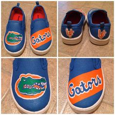 Go Gators! $40 College Sports Custom Painted Shoes by PureSouthernFun on Etsy