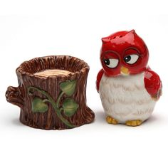 Red Owl Salt And Pepper Shaker Set From Retro Planet N Peppa
