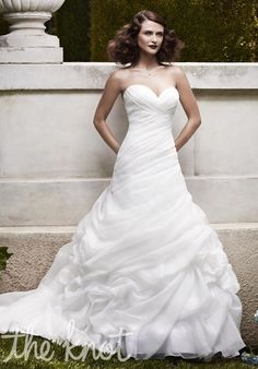 Check out this #weddingdress: 2064 by Casablanca Bridal via iPhone #TheKnotLB from #TheKnot