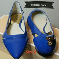 Michael Kors Hamilton point toe flat A Michael Kors padlock at the heel adds a flash of signature glamour to a lithe pointy-toe flat fashioned with elegant side cutouts.  Leather upper/leather and synthetic lining/rubber sole.By MICHAEL Michael Kors; imported.Women's Shoes. Michael Kors  Shoes Flats & Loafers