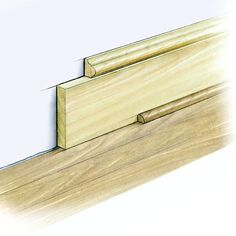 Baseboards: What They AreBaseboards are perhaps the most common trimwork. They cover gaps and give crisp, clean lines to uneven transitions between walls and floors. But beyond function, baseboards—whether created from a combination of wood pieces or a simple base piece—add warmth and beauty to rooms. Wood, which can be buffed out to eliminate the occasional ding or dent, is a more practical choice for baseboards than medium-density fiberboard (MDF).