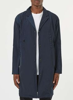 Navy Lightweight Mac - Men's Coats & Jackets - Clothing - TOPMAN