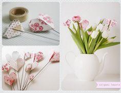 jarro de flores... origami, faça fácil