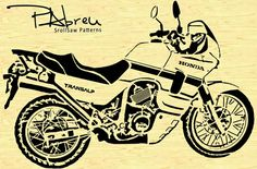 Honda Transalp Motorcycle Scroll saw pattern by PabreuWoodworking, Pvc Pipe Crafts, Pyrography Patterns, Honda Motors, Wood Burning Patterns, Scroll Saw Patterns, Honda Motorcycles, Paper Cutting, Creations, Craft Ideas