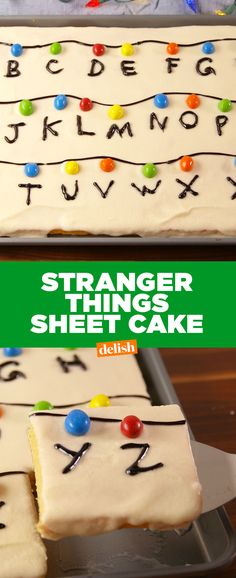 Stranger Things fans: this sheet cake tastes just like Eggos. Get the recipe at Delish.com.