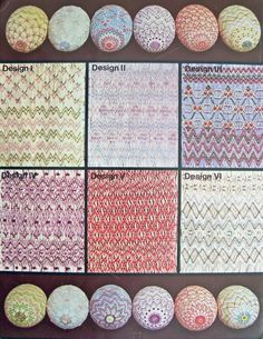 More smocked eggs! One of the original smocking designers in our current phase of smocking. I believe the date was 1979