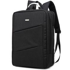 Nylon 15 Inch Laptop Backpack - BLACK Backpack Bags 50ba966efc159