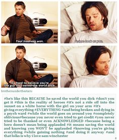 This is why I love Sam Winchester