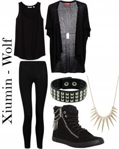 "Outfit inspired by: Xiumin in Exo's ""Wolf"" MV."