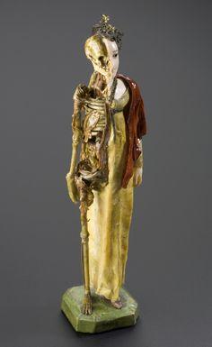 "19th Century Wax Anatomical ""Half and Half"" Models  1830.cutaway of woman wearing regency clothing England 1810"